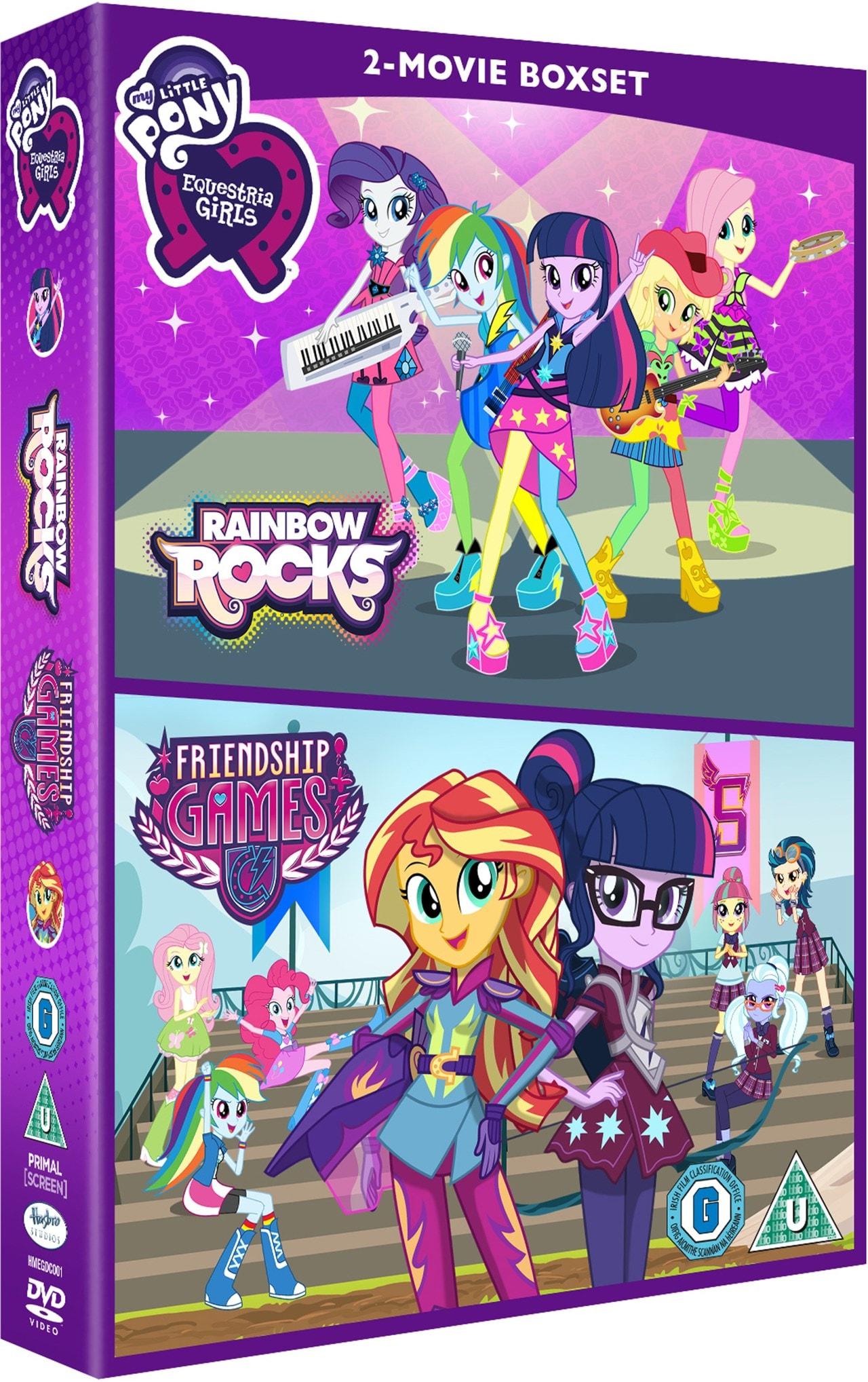 My Little Pony Equestria Girls Rainbow Rocks Friendship Games Dvd Box Set Free Shipping Over 20 Hmv Store