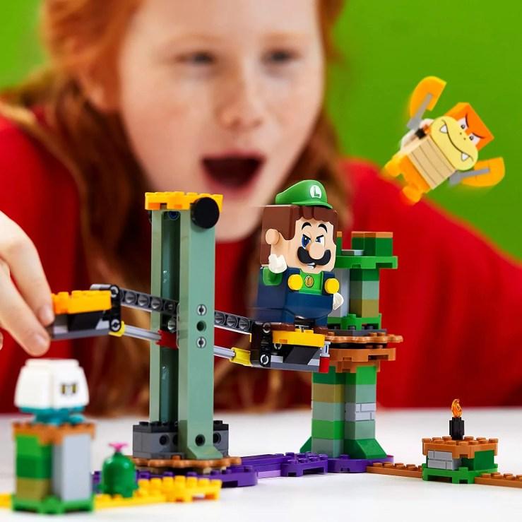 Lego Luigi paquete inicial super mario