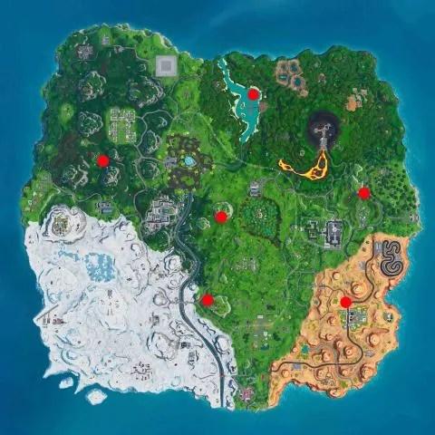 Mapa sombrillas gigantescas Fortnite