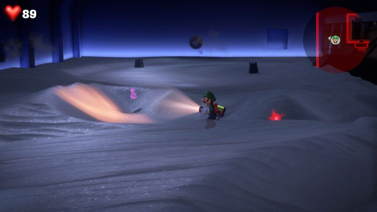 Image showing the Purple Gem Location: Sand Pile in Sandy Grand Hall.