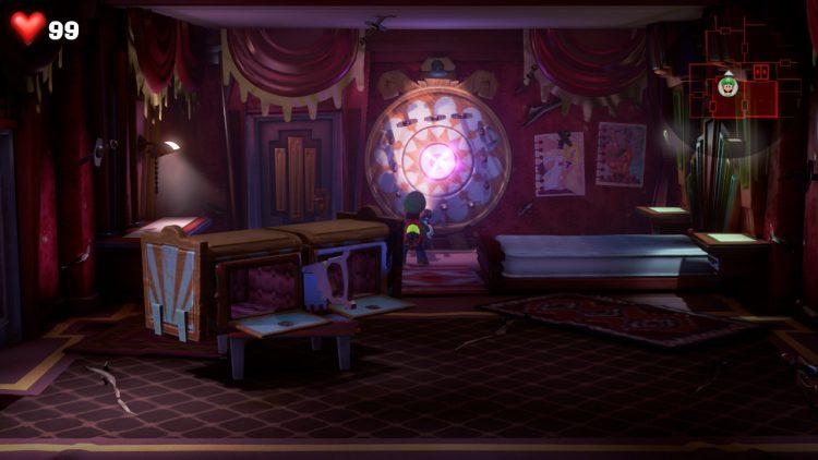 Red Gem Location Bladed Bedroom 750x422 - Luigi's Mansion 3 – Guida: dove trovare tutte le gemme dei piani 11 e 12