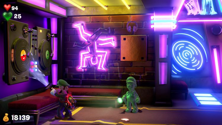 Purple Gem Location Block in Elevator Hall 750x422 - Luigi's Mansion 3 – Guida: dove trovare tutte le gemme dei piani 13 e 14