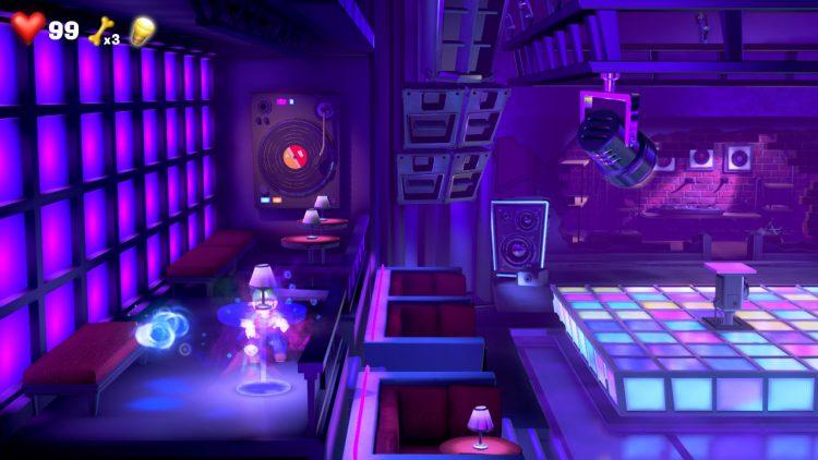 White Gem Location Ghost in Dance Floor 750x422 - Luigi's Mansion 3 – Guida: dove trovare tutte le gemme dei piani 13 e 14