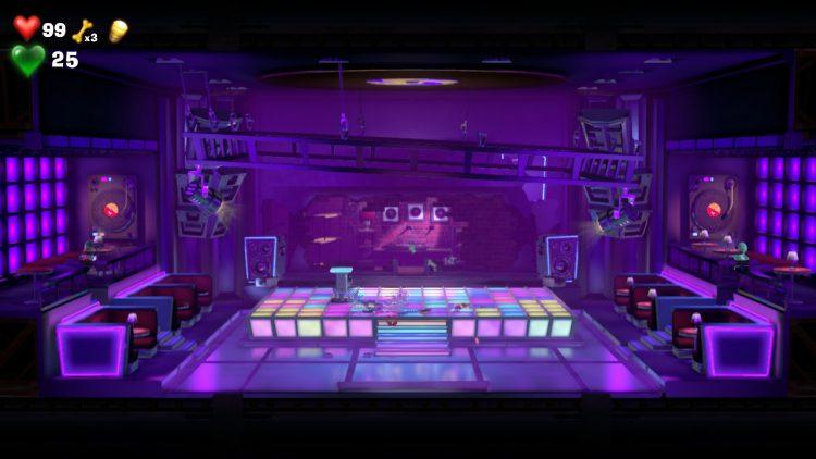 Red Gem Location Inside Disco Ball in Dance Floor 750x422 - Luigi's Mansion 3 – Guida: dove trovare tutte le gemme dei piani 13 e 14