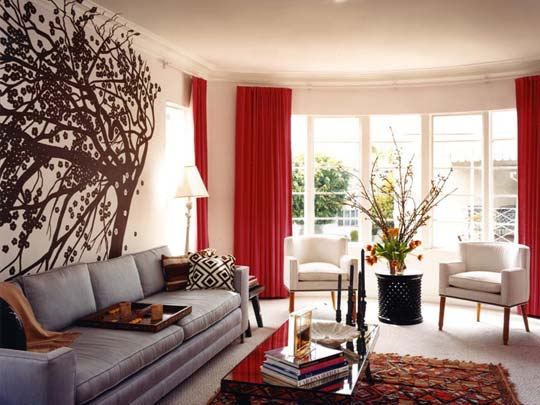 Black And White Living Room Wall Paint