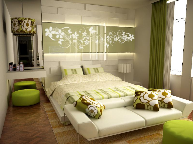 16 Green Color Bedrooms Retro floral designs own the energy in