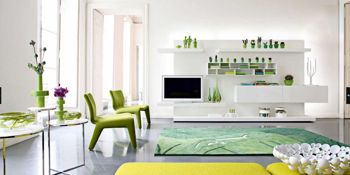 Green White Modern Living Room. Luxury Living Rooms Ideas Inspiration From  Roche Bobois Part 34