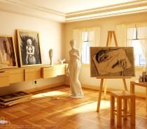 artists studio creative spaces inspirational rooms