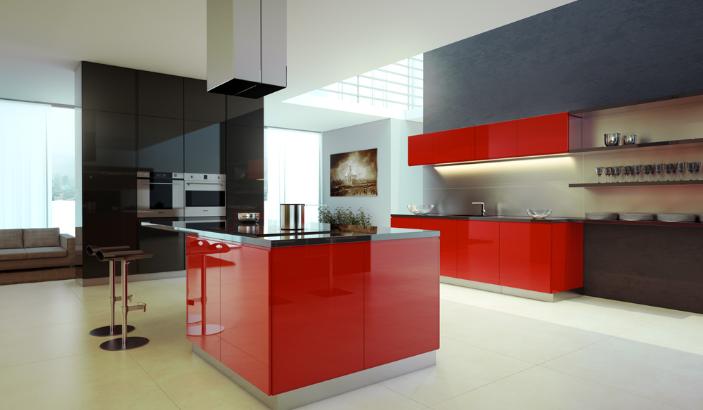Red Kitchen Interior Design