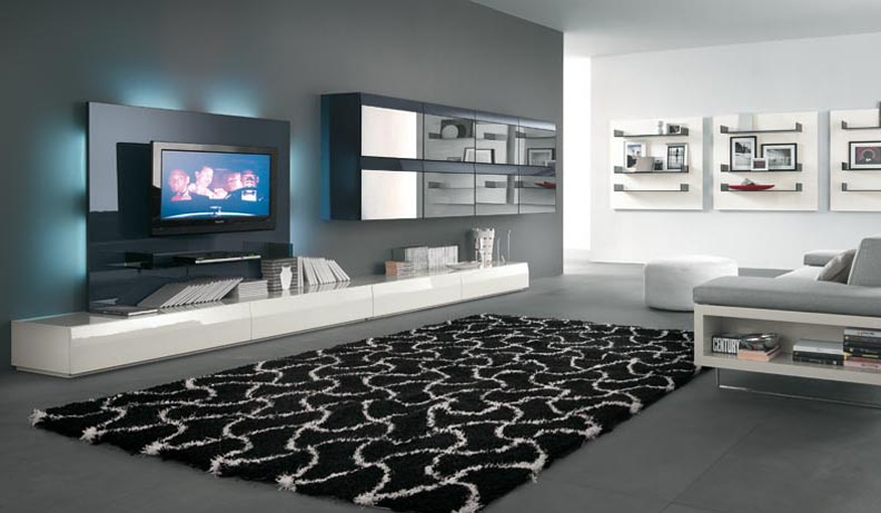 Living Room Decor Navy Blue