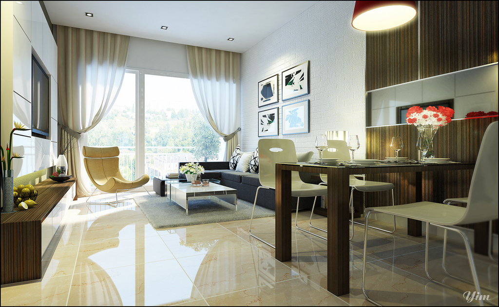 Living Room And Dining E Interior Design Ideas Part 44