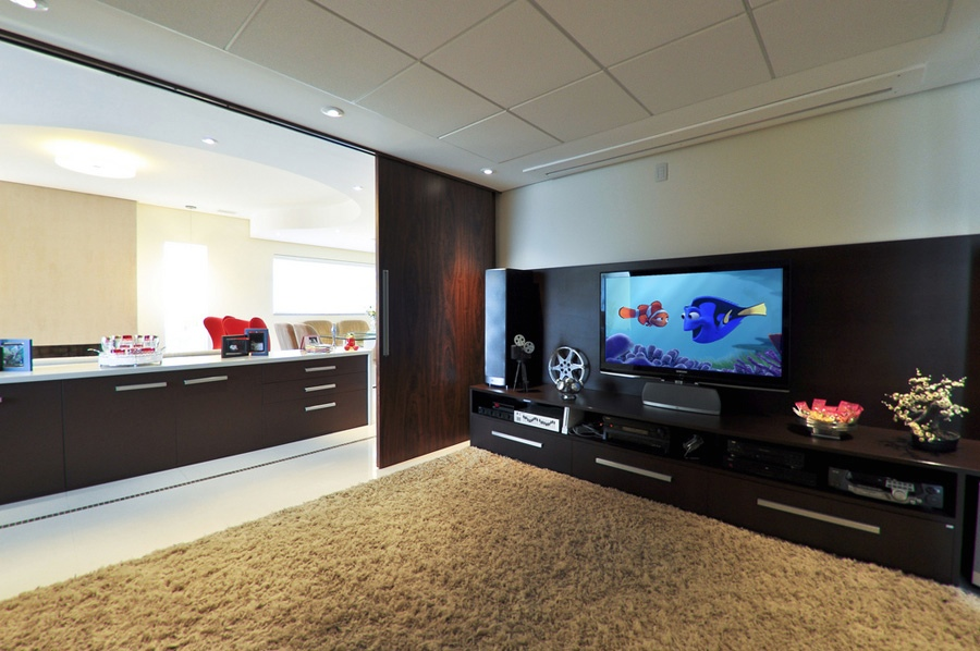 8 Modern Neutral Living Room Entertainment Unit Interior