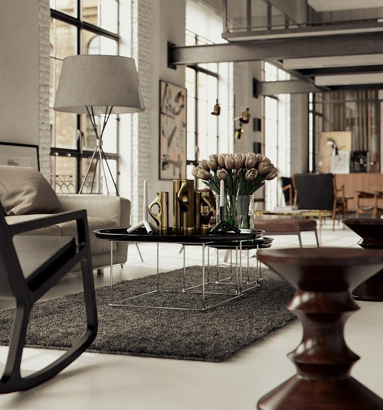 Interiors On Pinterest Modern Loft Apartment Interior