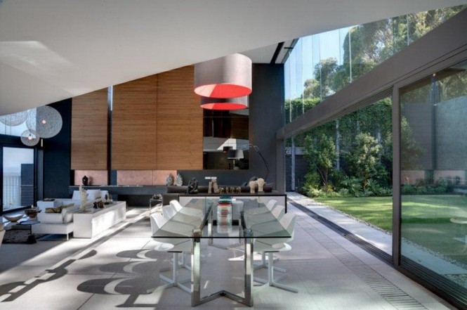 Contemporary dining room living room