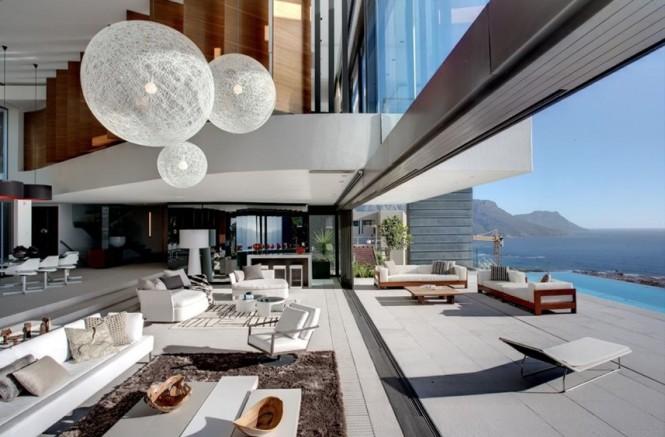 Contemporary open plan living area