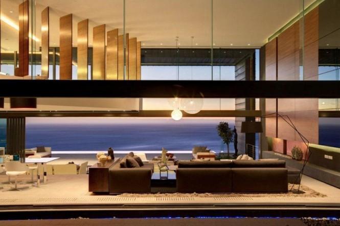 Luxurious interior design living room dining room
