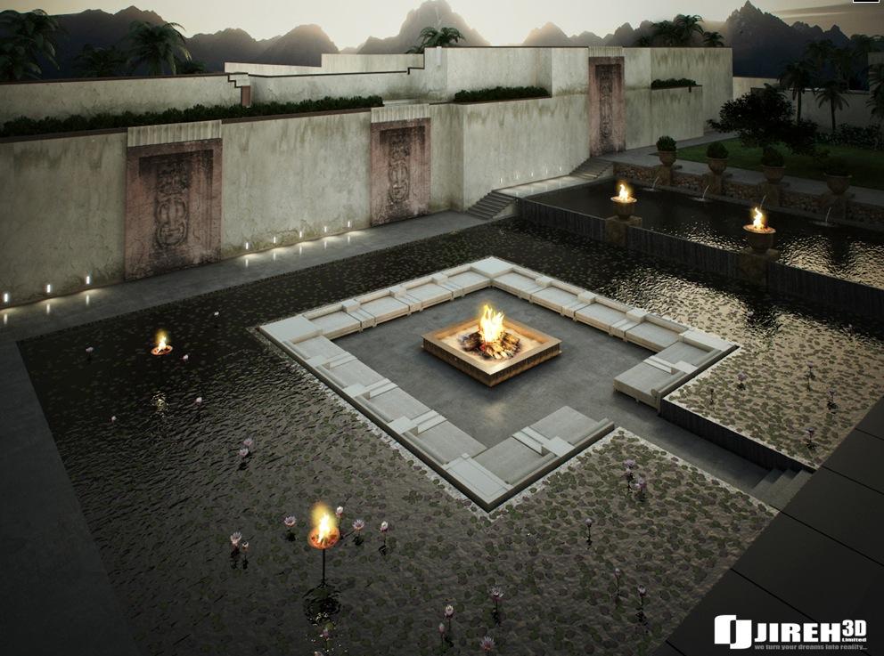 Sunken Ideas Fire Seating Pit
