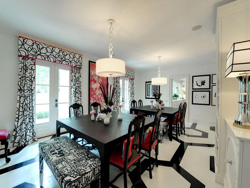 Black White And Red Dining Room Ideas Centerfieldbarcom