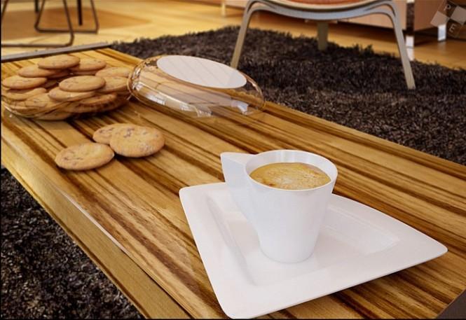 zebrano coffee table