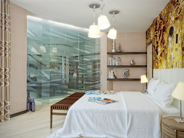 Yellow Brown White Bedroom Decorinterior Design Ideas