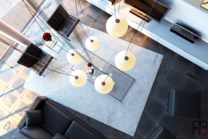 Black white living room decor scheme