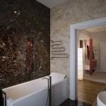 Brown Cream Marble Bathroom Wallsinterior Design Ideas