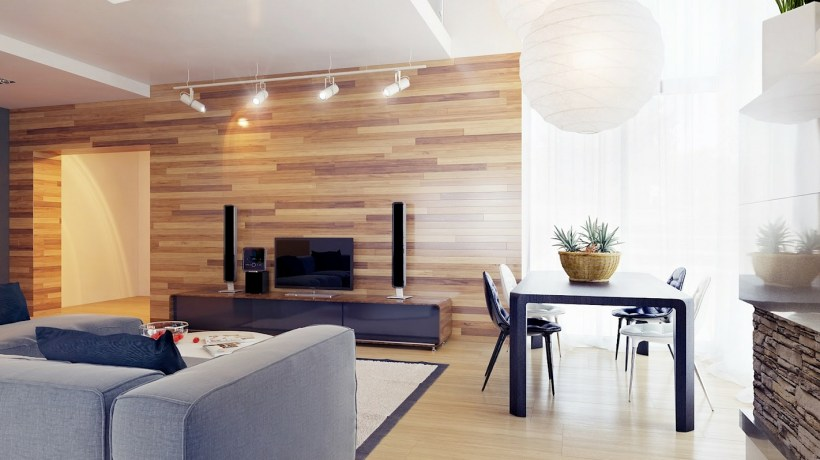 Wooden Wall Design For Living Room | Thehomesite.co
