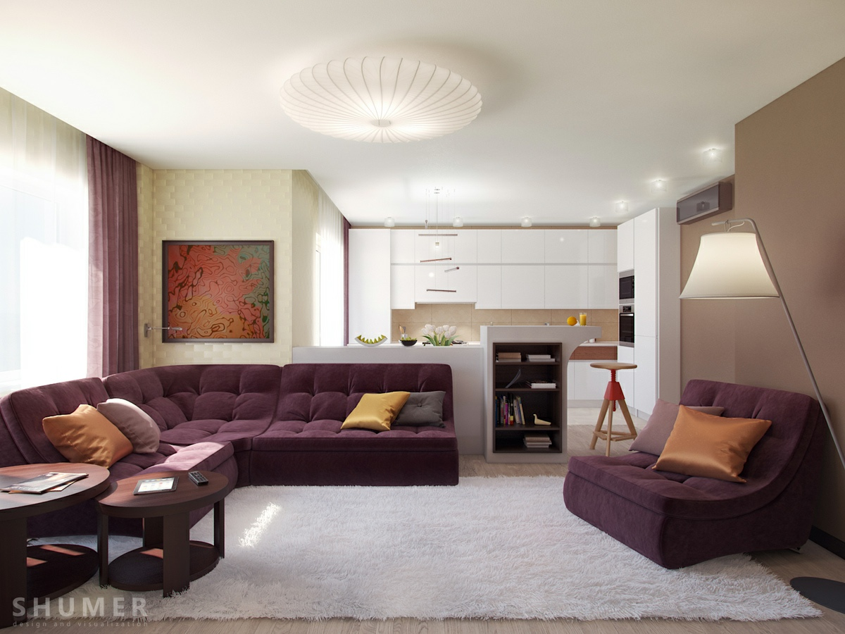 living modern with nature tones amp color blasts - Decoration Salon Moderne Taupe