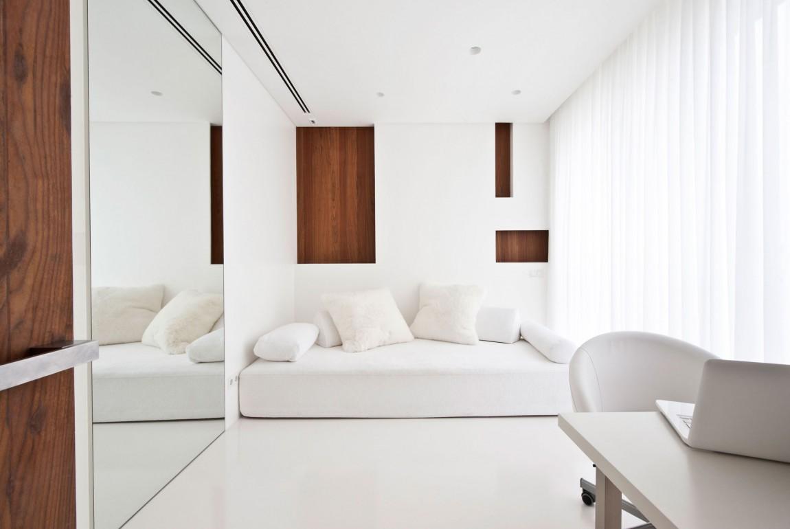 Apartment Awash With Walnut Amp White