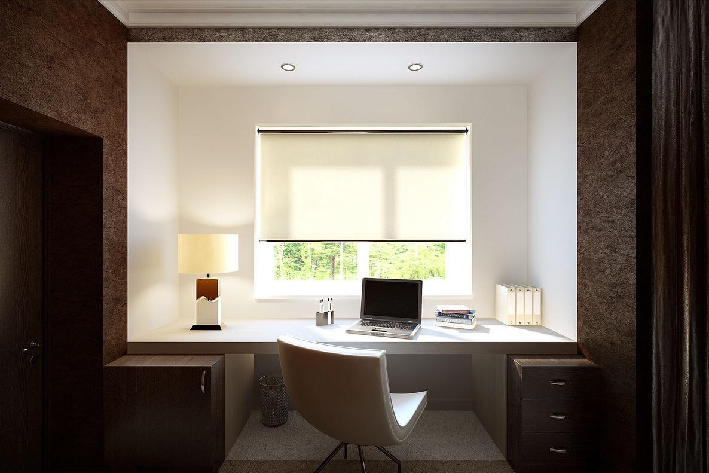 Brown White Home Office Interior Design Ideas