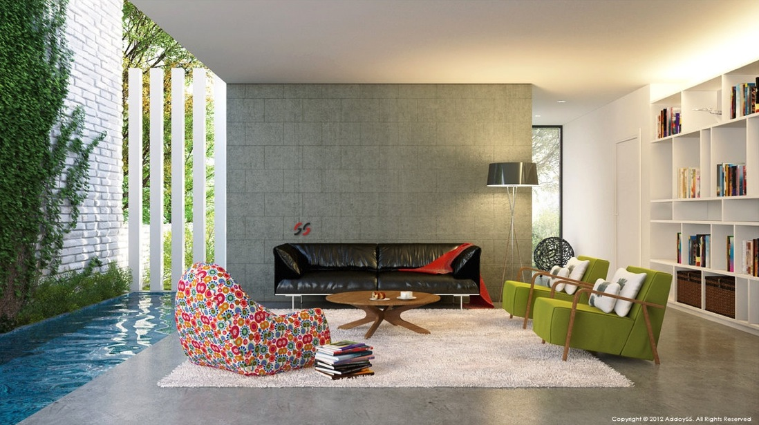 Modern Living Rooms. Contemporary ... Part 51
