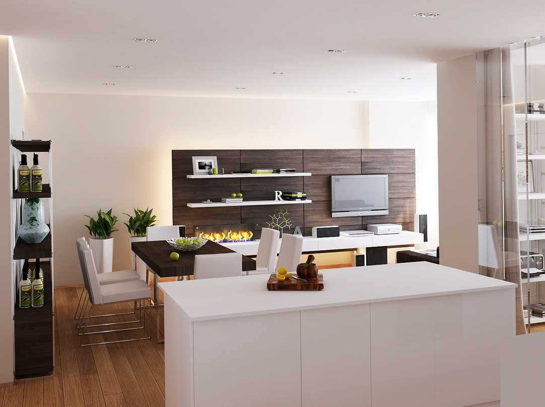 White Kitchen Designs Island