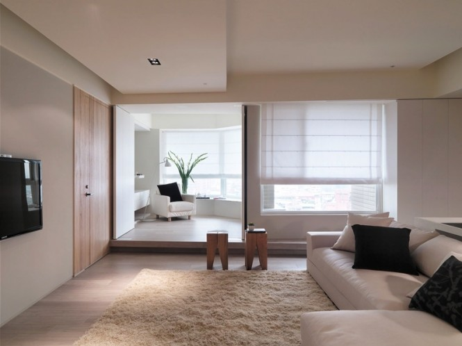 Asian Apartment With Neutral Decor