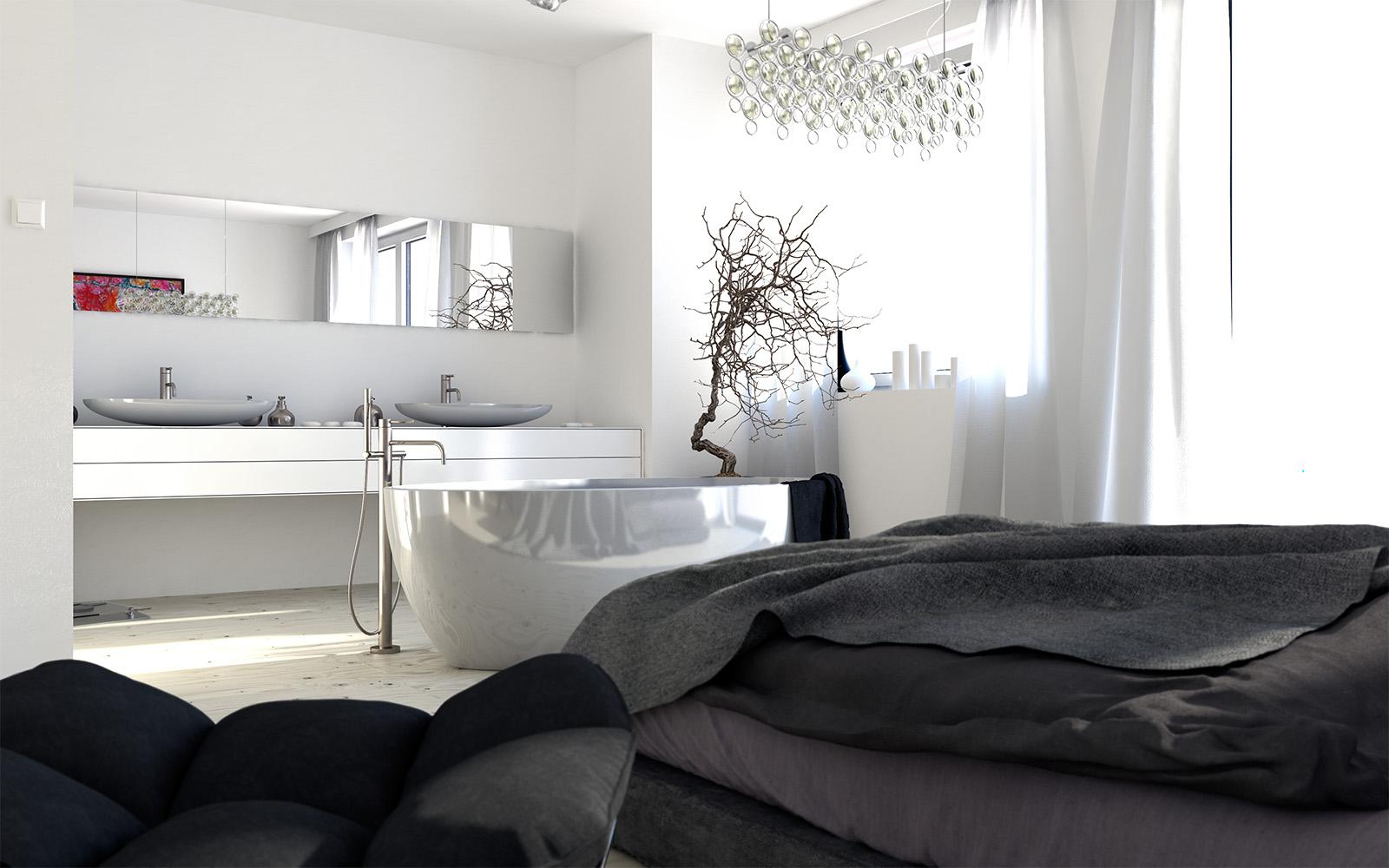 Central Bathtub Interior Design Ideas