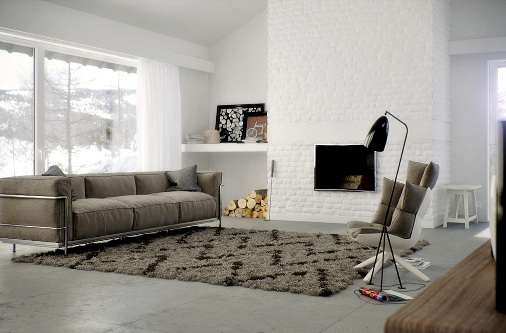 Brown Rug Interior Design Ideas