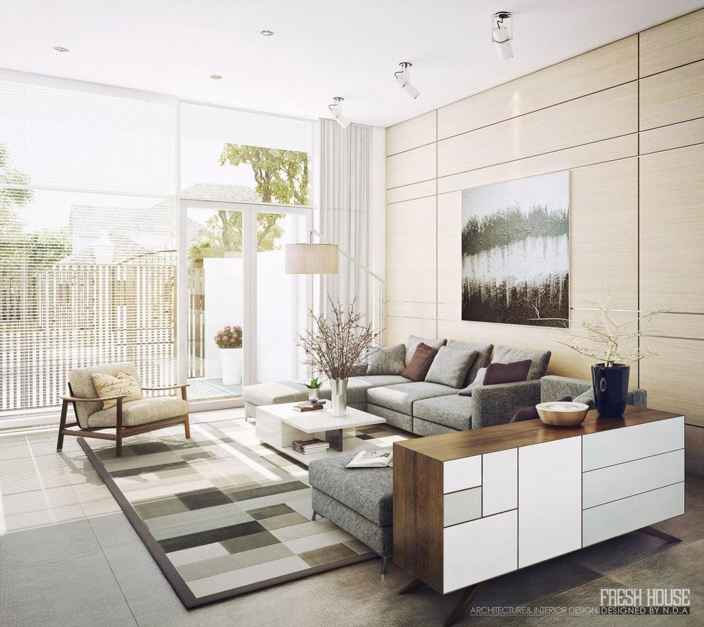   modern neutral living room decor ideasInterior Design Ideas.
