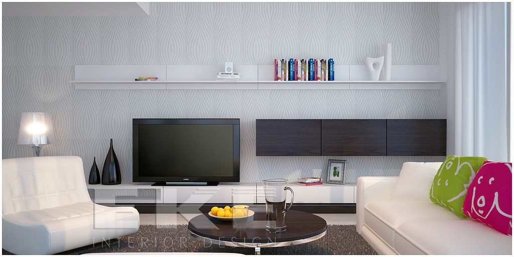 Tuananh Ekes Modern White Lounge With Contrasting And