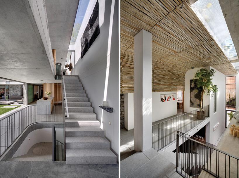 Modern Coastal House Staircase Interior Design Ideas