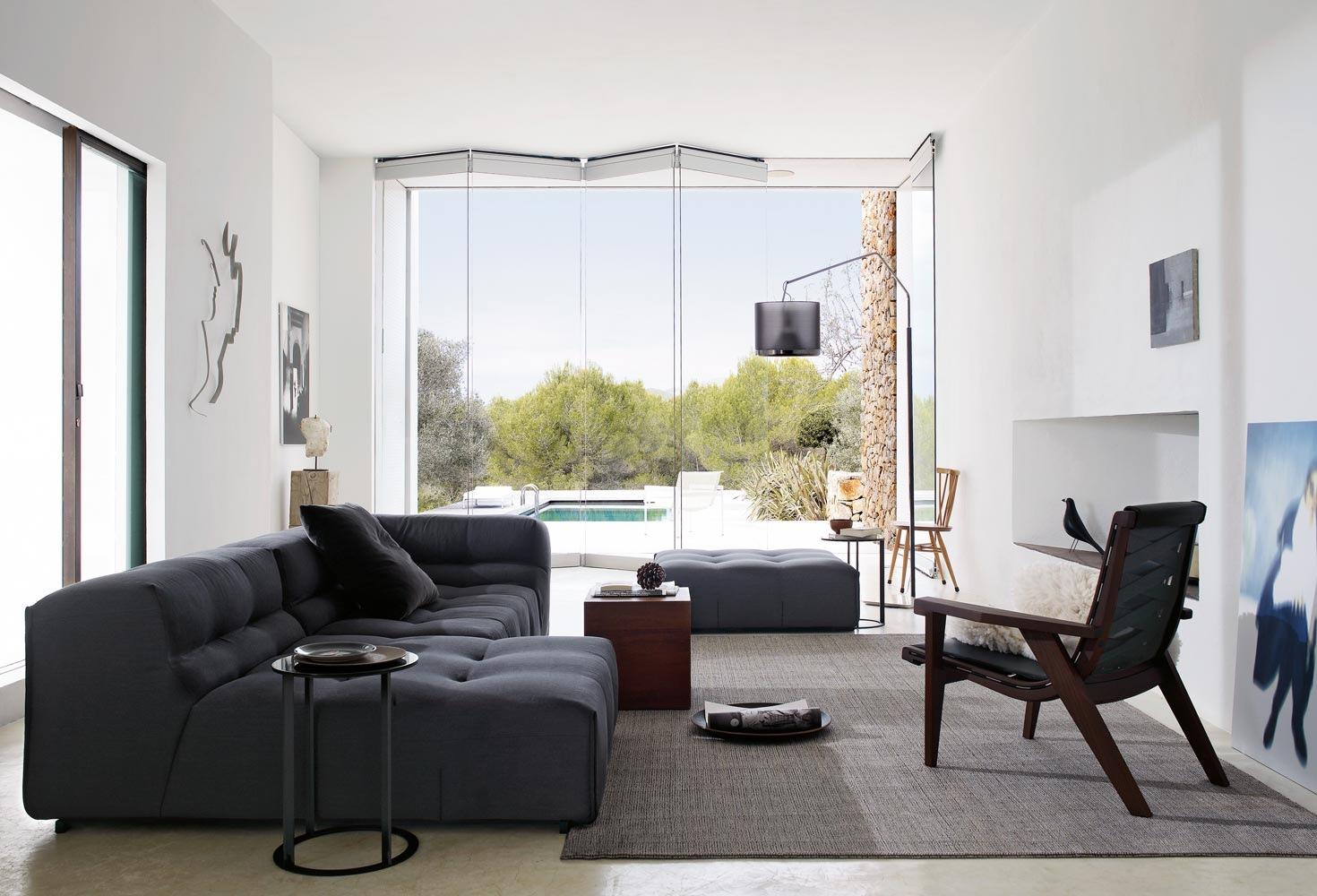 Dark Sofa Wooden Chair Interior Design Ideas