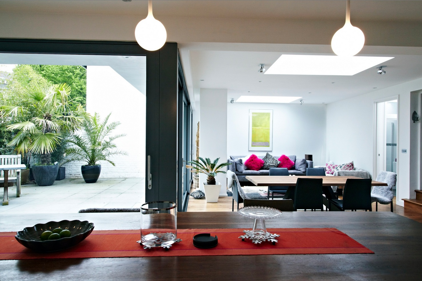 Outside Inside Views With Glass Extension Interior