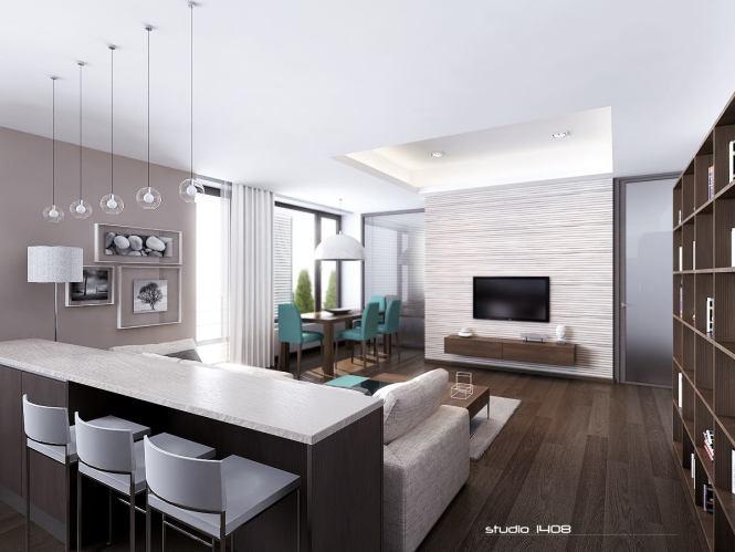 Sleek Modern Apartment Interior