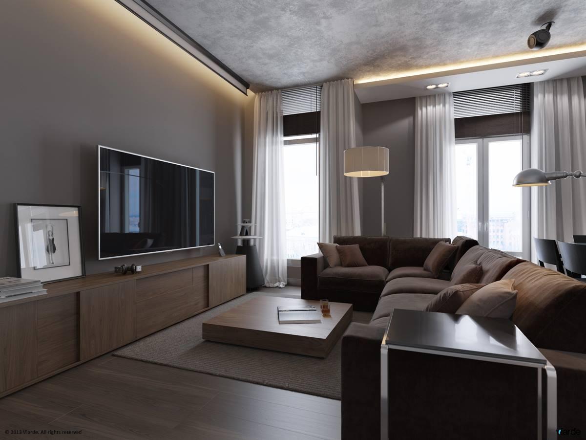 1 Monochrome Grey Living Room