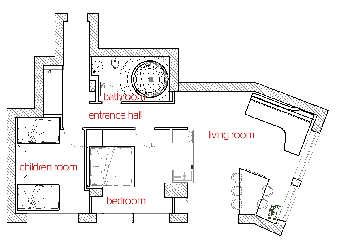 19 Century Mission Floor Plan