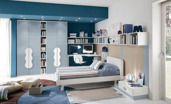 Blue teenagers room