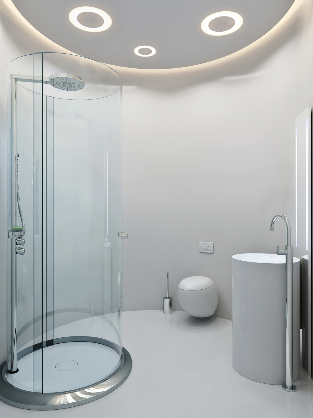 Circular Shower Room Interior Design Ideas
