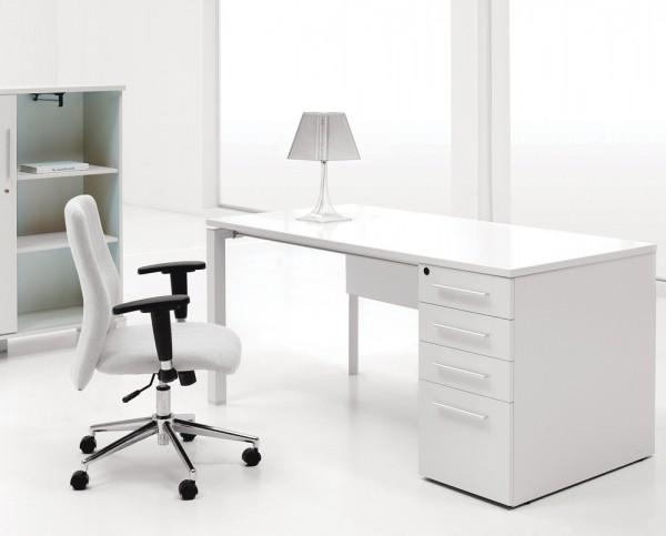 14 White laquer finish desk