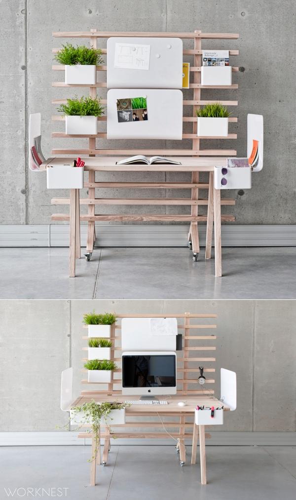 19 Modular desk space