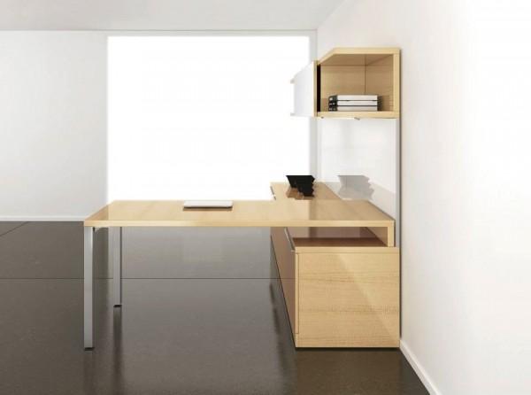 22 Large beech desk