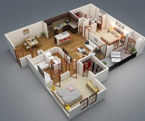 Other Related Interior Design Ideas You Might Like 2 Bedroom Apartment House Plans