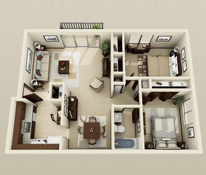Interior Design Two Bedroom Apartment Novocom Top